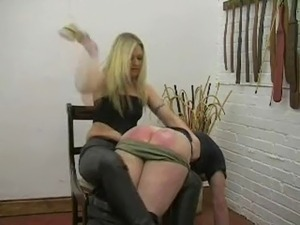 ebony dominant mature wife spanks husband