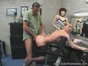 blonde dutch girl gives blow job