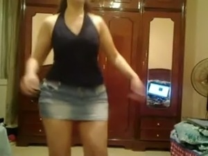 Hot college girl dancing