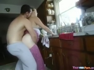 girls fuck on kitchen table