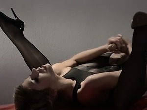 shemale pantyhose video