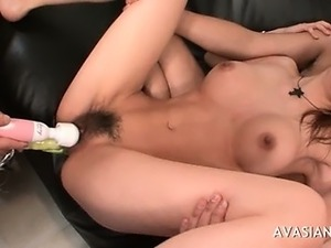 head inserted in japanese pussy