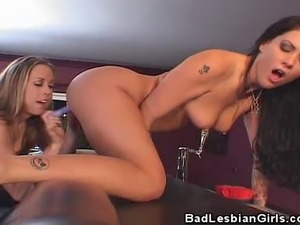 We have these hot lesbian chicks getting down and naughty on this clip. Watch...