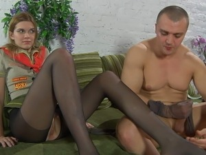 girlfriend licking girlfriends pantyhosed pussy