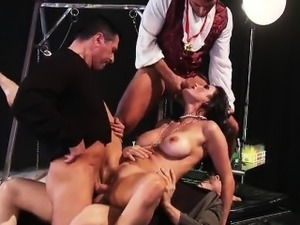ebony anal double penetration video