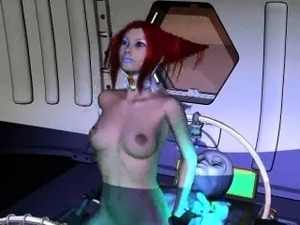girl alien boobs