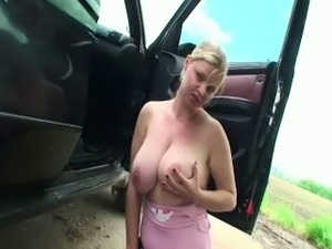 video girl driving runaway car