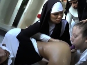 upskirt nun ass video