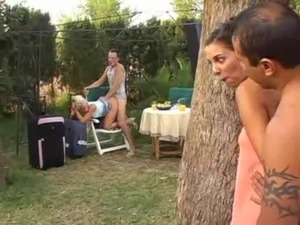 prank naked girls pool