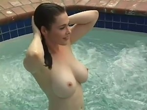 Hot girl by pool