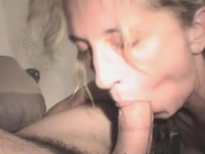 Mature Blonde Street Whore Sucks Dick And Facial