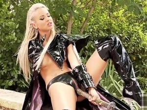 blonde latex video
