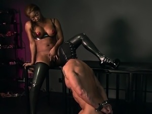 erotic latex thong video