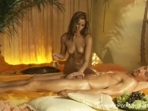 erotic massage of busty girl