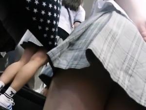 Teen upskirt no panties