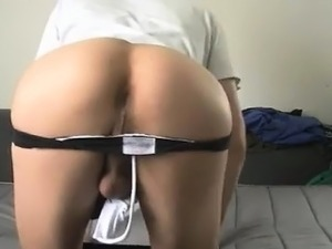 huge dildo in hairy pussy