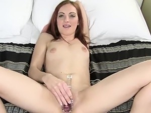 Flirty czech girl opens up her spread pussy to the extreme