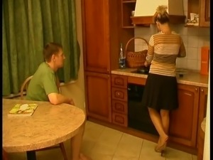 blonde russian mature pantyhose young guy