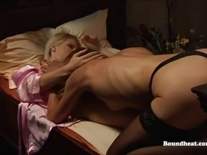 Perky big tit slave whipped by mistress bdsm lesbians