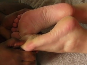 Teens foot sex