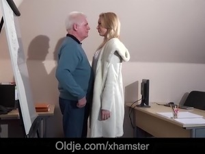 older russian man fuck girl