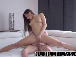 NubileFilms - Hardcore creampie for college babe
