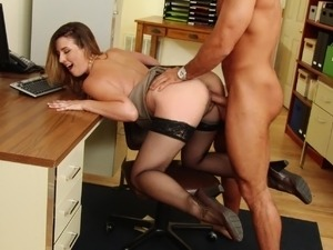 naked girl at office