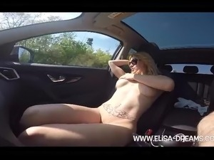 topless car girls