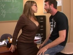 Hot teacher having sex