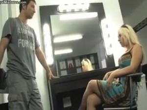 She makes Him To Worship Her High Heels and Feet