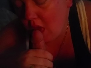 Hot bbw whore sucks my cock.