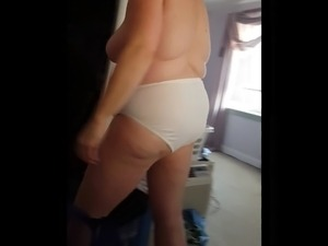 wife strip bra video