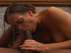 Naughty milf blowing huge black dick