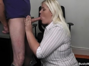 secretary blowjob video