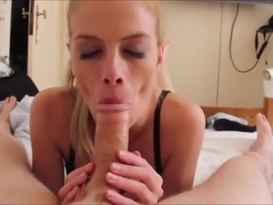 lovely amateur blonde milf sucking dick