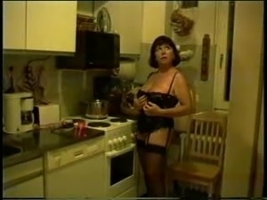 naked wife in the kitchen sink