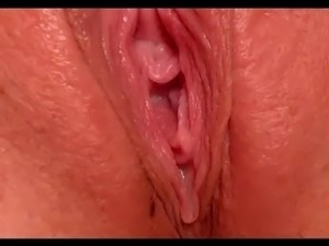 Close up wet pussy