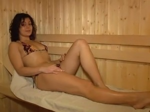 Hot girls in sauna