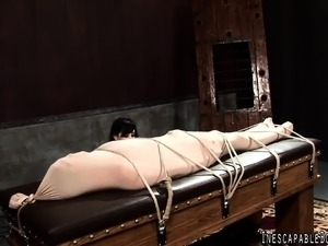 mature bound fucked video