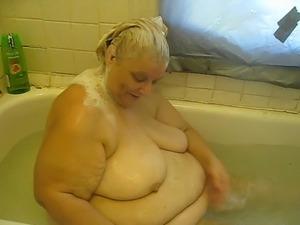Naked girl in bathtub