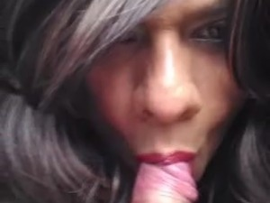 lovely wife giving nice blowjob