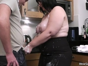 xhamster brunette wife kitchen fuck