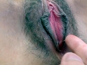 vagina contractions with orgams closeup video