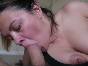 Fat mom loves shoving a dick down her throat