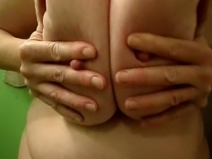Funbags Huge boobs sexy big nipples play