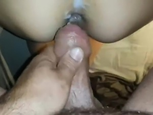 men eat creampie pussy video
