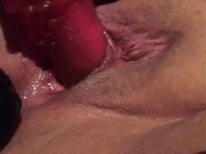Dildo fuck with butt plug
