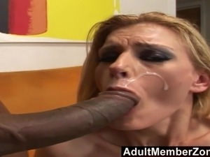 first black monster cock blonde
