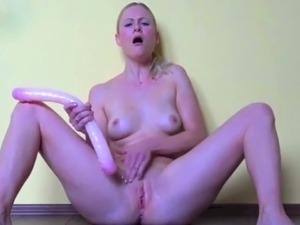 Blonde Squirting BigToys Orgasm