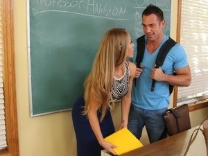 Girl kiss teacher